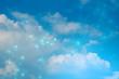 futuristic blue ai cloud storage digital technology internet network background, sytem hologram link working, web of internet of things