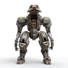 Fighting Mech With An Open Coc...