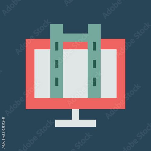 Fotografie, Obraz  Silhouette icon videotape