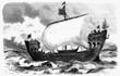 Hanseatic warship of the 13th century - Europe, Germany, 1880-1889, 19th Century, 19th Century Style
