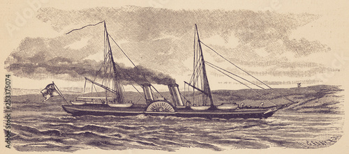 The imperial yacht 'Hohenzollern' Canvas-taulu