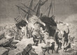 New Year's Eve of the north pole drivers: Count Johann Nepomuk Wilczek, Julius Payer, Carl Weyprecht - Illustration, North Pole, 1870-1879, 19th Century, 19th Century Style