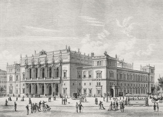 The new stock exchange in Vienna. - Illustration, Austria, Vienna - Austria, 1870-1879, 19th Century, 19th Century Style