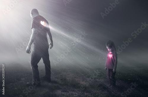 Obraz na plátně Heart of a father