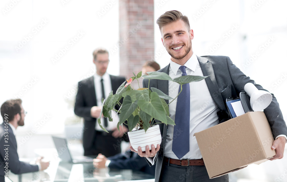 Fototapety, obrazy: new employee on the first day at the workplace