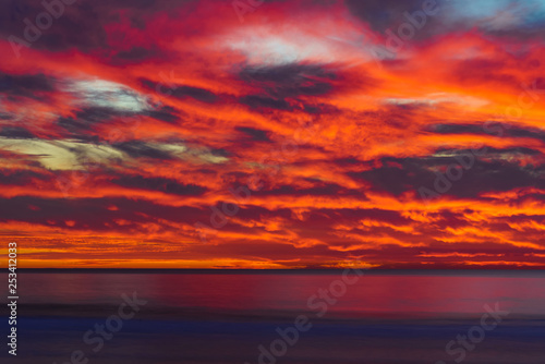 Spoed Foto op Canvas Bordeaux Beautiful Sunset in San Diego, California