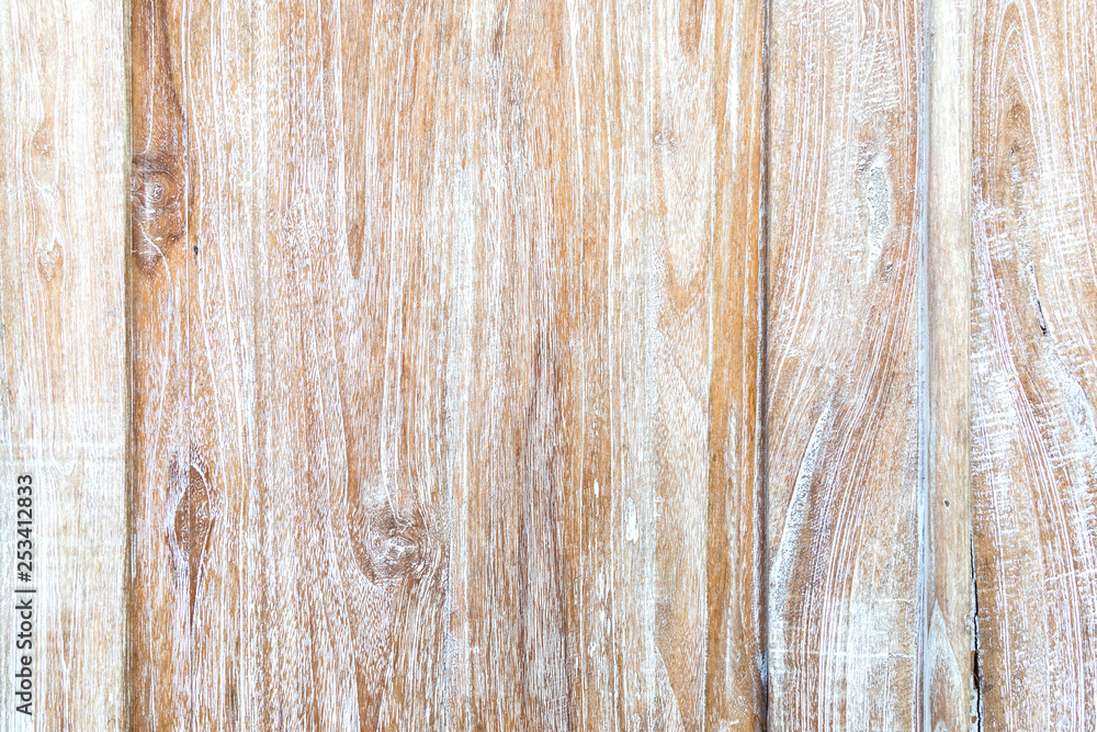 Fototapety, obrazy: Old weathered texture of the teak wood.