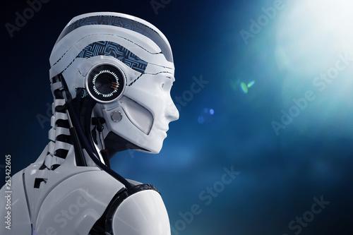 Leinwand Poster 3D Illustration Roboter künstliche Intelligenz