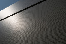 A Tiled Wall Reflects Sunlight