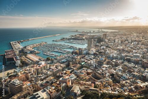 Cuadros en Lienzo Beautiful landscapes of the city of Alicante, Spain