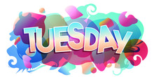 Tuesday Word Vector Colorful Banner