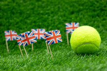 Tennis Ball With Union Jack Fl...