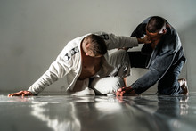 Brazilain Jiu JItsu BJJ Fighters In Training Sparing