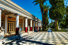 The Famous Achilleion Palace On Corfu Island, Greece