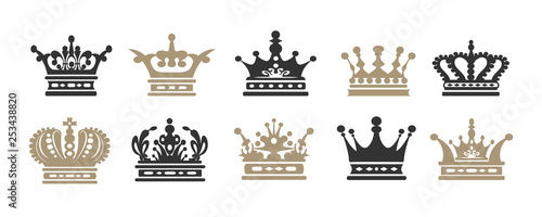 Crown icons. Set for your design. Vector illustration Fototapete