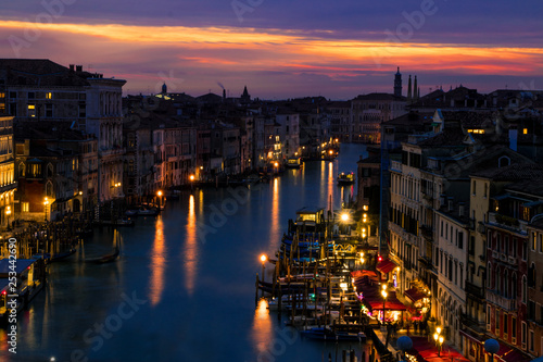 Garden Poster Brazil venice grand canal in the sunset