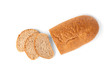 Bran bread isolated on white background.