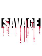 Blut Savage Tropfen Graffiti T...