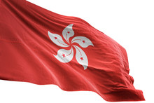 Hong Kong Flag Waving Isolated...