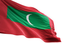 Maldives Flag Waving Isolated ...