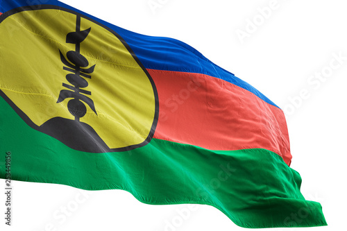Fotografie, Obraz  New Caledonia flag waving isolated white background 3D illustration