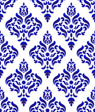 Porcelain Damask Pattern