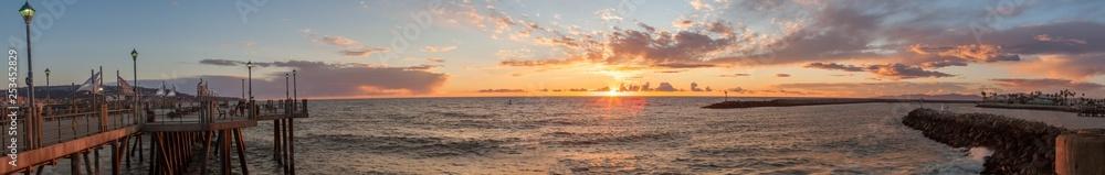 Fototapety, obrazy: Sunset From the Redondo Beach Pier.