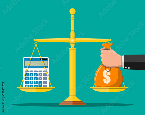 Leinwand Poster Money balance concept