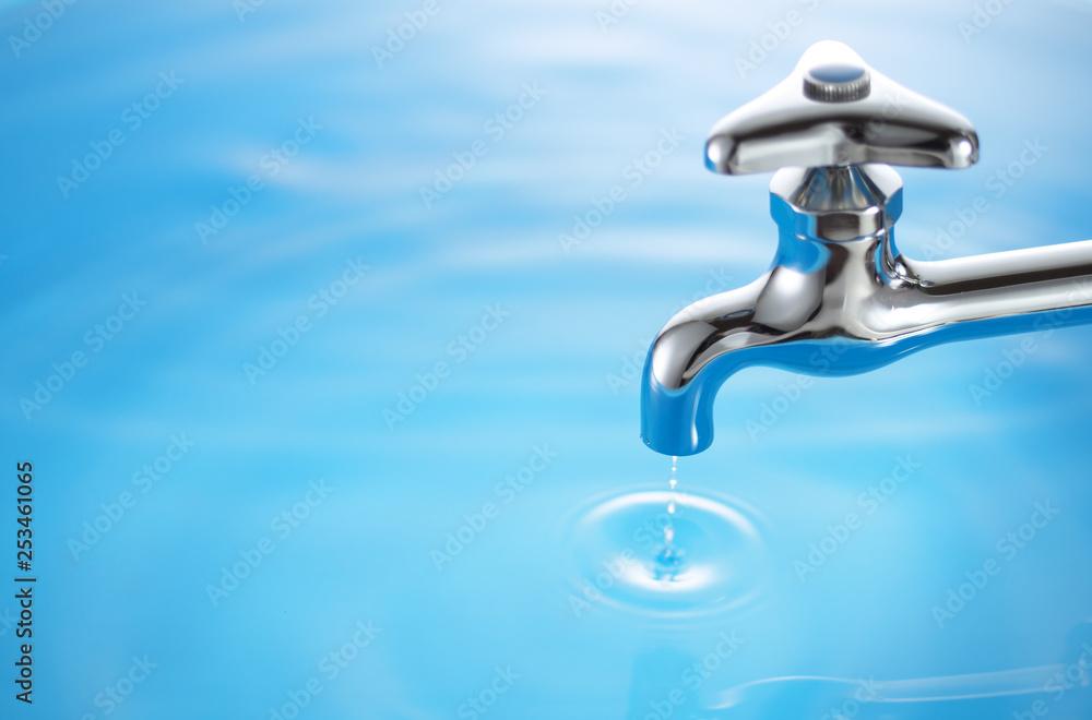 Fototapety, obrazy: 水道-蛇口の水滴