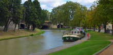 Barge On The Canal Du Midi At ...