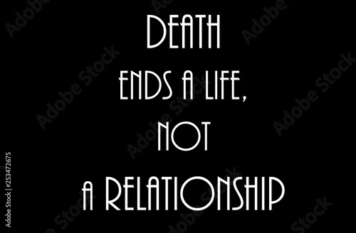 Death don't ends relationship only life Canvas Print