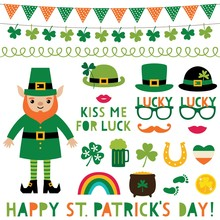 Saint Patricks Day Decoration And Party Props Set