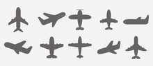 Airplane Icons Illustration