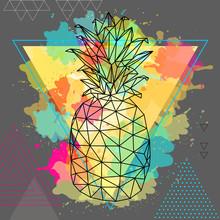 Hipster Polygonal Tropic Fruit...