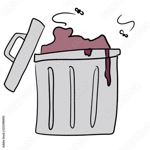 ゴミ箱の絵 Canvas-taulu