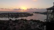 Dolly shot with Lighthouse and Jupiter Inlet at Sunrise
