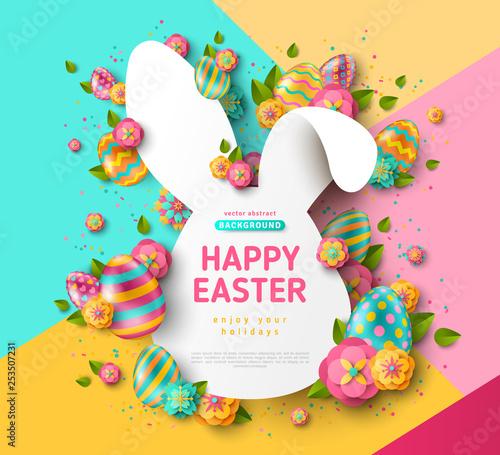 Fotografie, Obraz Easter rabbit frame and eggs