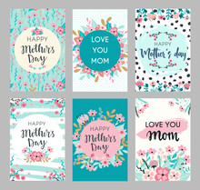 Set Of Mothers Day Greeting Ca...