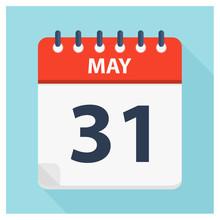 May 31 - Calendar Icon - Calendar Design Template