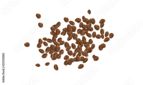 Photo Realistic coffee beans, vector illustration
