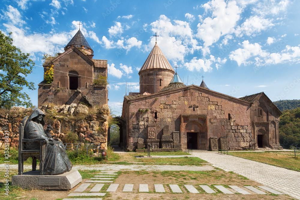 Fototapety, obrazy: Goshavank - Armenian medieval monastery complex XII-XIII centuries in the village of Gosh in sunny day , Armenia.