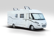 White New Motor Home Isolated