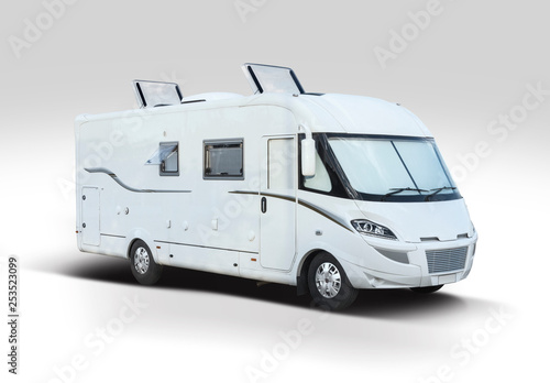 Foto White new motor home isolated