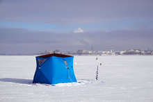 Tent For Winter Fishing On The...
