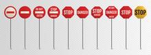 Traffic Signs. Blank Warning, ...