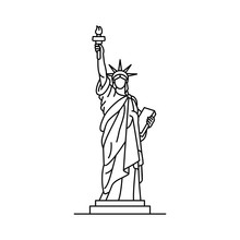 Statue Of Liberty Icon. Isolat...