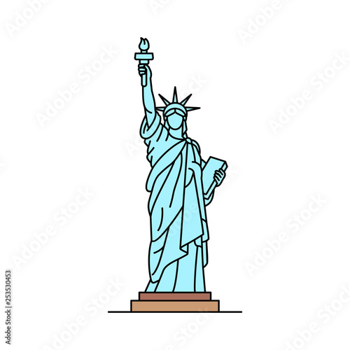 Fotografía Statue of Liberty icon. isolated on white background