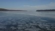 Rare shot of a slow pan directly over the frozen Mississippi River in the winter. Filmed with a Mavic 2 Pro, 4K footage at high bit rate.