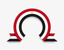 Egyptian Flag Rounded Abstract...