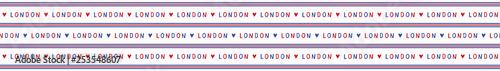Fotografia, Obraz  I love London lettering text seamless vector pattern